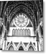 Holy Name Cathedral Chicago Bw 06 Metal Print