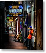 Holy Smoke Bourbon Street Metal Print