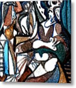 Homage To Digital Picasso Metal Print by Mindy Newman
