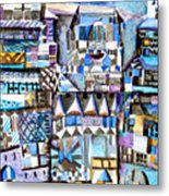 Homage To Paul Klee Metal Print by Mindy Newman