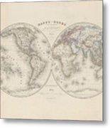 Homalographic World Map  Metal Print