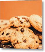 Home Baked Chocolate Biscuits Metal Print