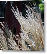 Home Behind The Grass Metal Print