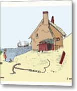Home By The Sea Metal Print by Donna Munro