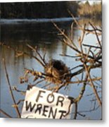 Home By Water For Wrent Cheep Metal Print