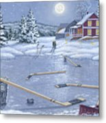 Home For Supper Metal Print