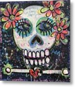 Home Is Wherever I Am With You An Abstract Skull Painting About Love Metal Print