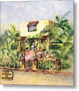 Home On Belmont Shore Metal Print