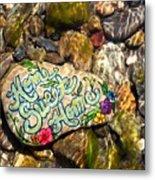 Home Sweet Home Mosaic Metal Print