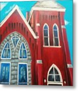 Home Town Church Metal Print