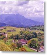 Home Town Mountains Metal Print