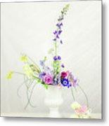 Homegrown Floral Bouquet Metal Print