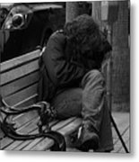Homeless - Bw Metal Print
