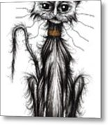 Homeless Cat Metal Print