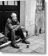 Homeless In Brussels Metal Print