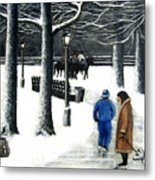 Homeless In Central Park Metal Print