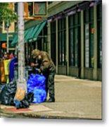 Homeless In Nyc Metal Print
