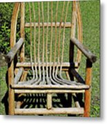Homemade Lawn Chair Metal Print