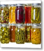 Homemade Preserves And Pickles Metal Print