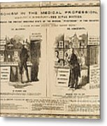 Homeopathy Vs. Allopathy, Caricature Metal Print