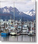 Homer Harbor Metal Print