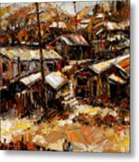 Homes In The Hills  Chaves Revine Metal Print