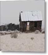 Homestead In Winter - Circa 1856 Metal Print