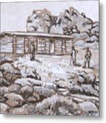 Homestead On Brush Creek Historical Vignette Metal Print