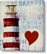 Hometown Bahamas Lighthouse Metal Print