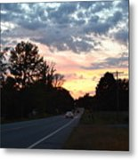 Homeward Bound Evening Sky Metal Print
