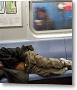 Homeless In Motion Metal Print