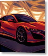 Honda Acura Nsx 2016 Mixed Media Metal Print