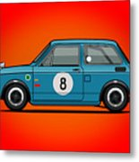 Honda N600 Blue Kei Race Car Metal Print