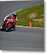 Honda Takes Turn 1 No 2 Metal Print