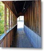 Honeymoon Bridge Sidewalk Metal Print