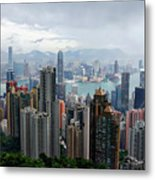 Hong Kong After Rain Metal Print