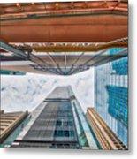 Hong Kong Buildings Colour Metal Print