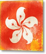 Hong Kong China Flag Metal Print by Setsiri Silapasuwanchai