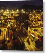 Hong Kong Container Terminal, One Metal Print