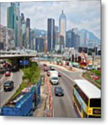 Hong Kong Traffic II Metal Print