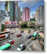 Hong Kong Traffic Metal Print