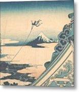 Honganji At Asakusa In Edo Metal Print