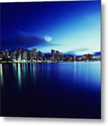 Honolulu At Night Metal Print