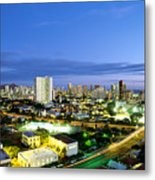 Honolulu City Lights Metal Print