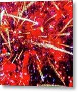 Honolulu Fireworks Metal Print