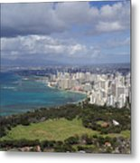 Honolulu Oahu Hawaii Metal Print