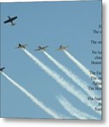 Honor Flight- Missing Man Formation Metal Print