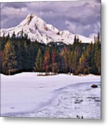 Hood On Ice Metal Print