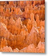 Hoodoos And Other Eroded Cliffs Light Metal Print