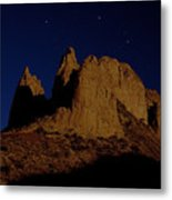 Hoodoos At Night Metal Print